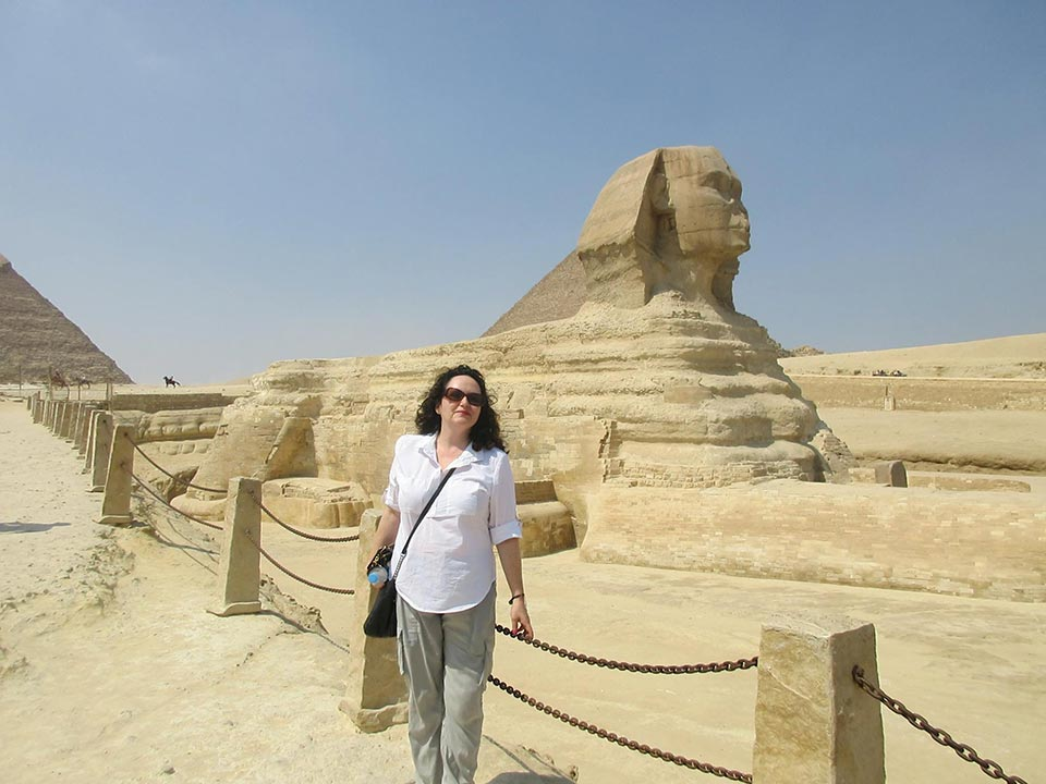 Laura at the Sphinx
