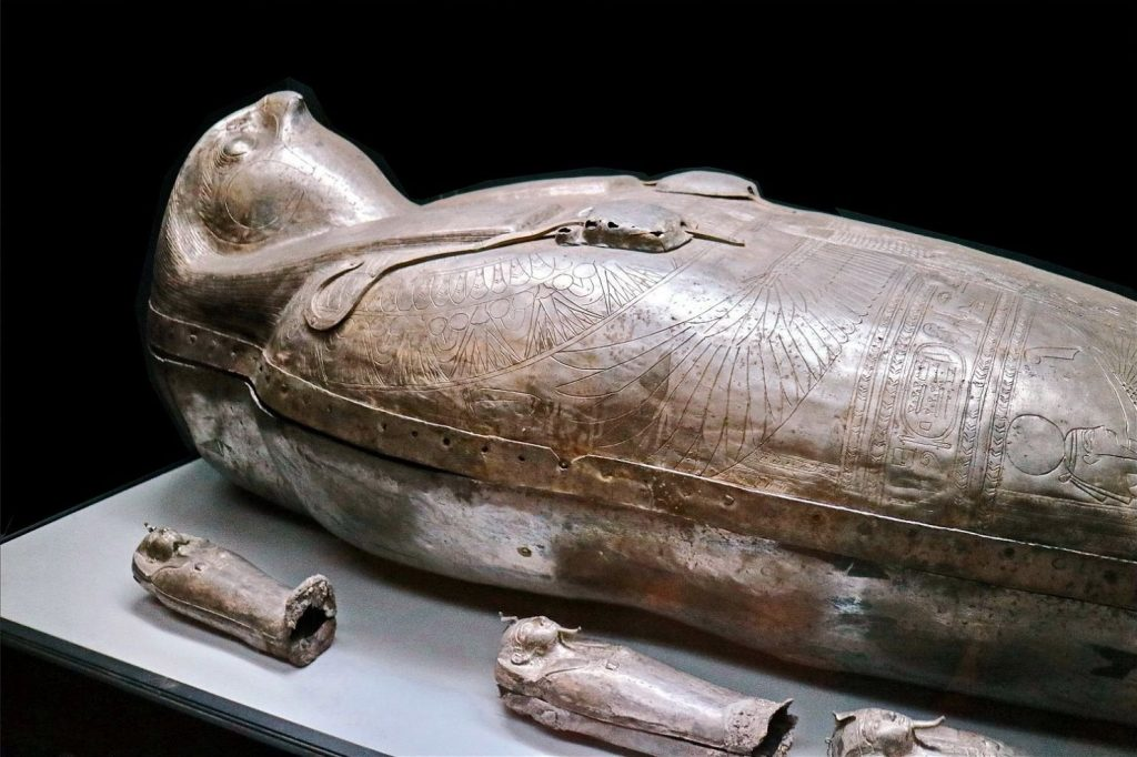 Mummy coffin, Tomb Antiques, Ancient Egypt relics, Archeology