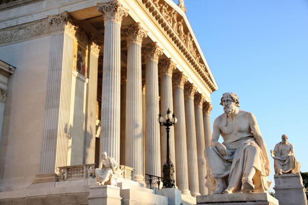 Statue of Herodotus in Greece