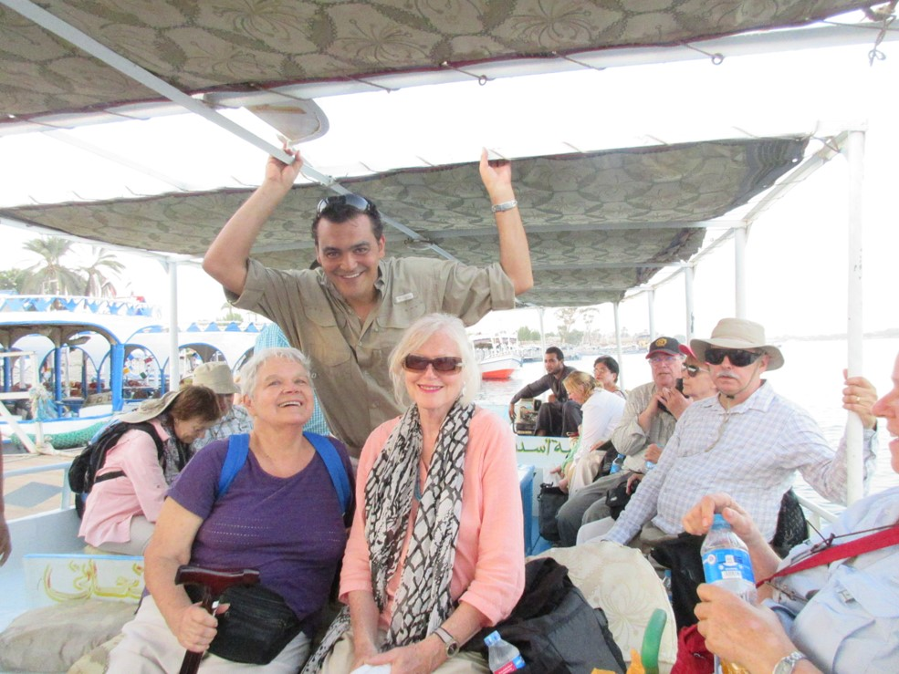 Group picture on the Nile, with Laura Ranieri from Ancient Egypt Alive